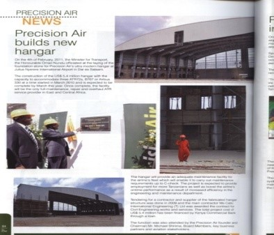 Precision Air Hangar – Julius Nyerere Airport – Dar-salaam